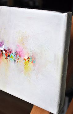 Original Abstract Painting Modern Art Rainbow by AbstractArtM