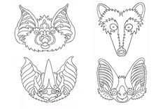 Whether your playing pretend or trick-or-treating, these free printable Halloween masks from Bat Conservation Interntaional are tons of fun and easy to make. Better yet, you and the kids might learn more about bats! Bat Activities For Kids, Bat Conservation International, Printable Halloween Masks, Bat Mask, Creepy Masks, Bat Craft, Samhain, Geometric Art, Mask For Kids