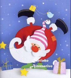 Cantinho Alternativo: Papai Noel Equilibrista com Molde