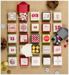 Advent calendars in all shapes and sizes.
