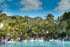 A pool party in paradise at Audi Hamilton Island Race Week. #HamiltonIsland #AHIRW