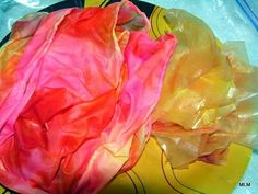 Conversations in Cloth: Dyeing Silk Scarves with Spectra Art Tissue : Demo by Joanne