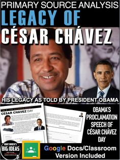 The Legacy of Cesar Chavez Primary Source Analysis + Distance Learning Version Teaching American History, World History Teaching, World History Lessons, American History Lessons, History Lesson Plans, Social Studies Lesson Plans, Cesar Chavez Day, Substitute Teacher, Primary Sources