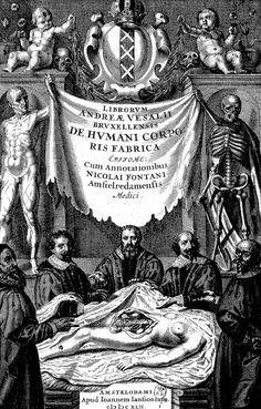 """Andreas Vesalius (1514–1564), frontispiece to """"De humani corporis fabrica libri septem"""""""