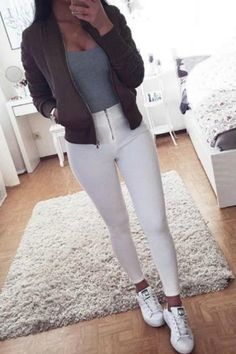 teen-fall-winter-fashion-outfit-ideas-for-school-white-jeans-converse-sneakers-bomber-jacket