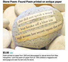 The Regretsy Stone Poem #funny #regretsy #etsy