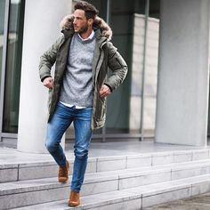Casual look* Wish you all a nice Sunday! Parka by @selected_official #casual #selctedhomme