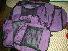"""""""Absolutely BRILLIANT!!  These packing cubes are like little drawers in MY SUITCASE!! """" #Review of #EatSmart TravelWise Packing Cube System by #PeanutButterandWhine #travel #packingtips"""