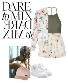 """subj"" by tragedyfashion on Polyvore featuring Topshop, Haute Hippie, New Look, Billabong, NIKE and patternmixing"