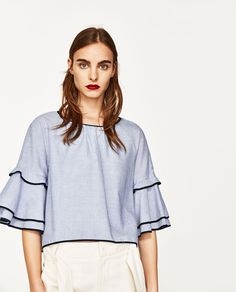 STRIPED TOP-Blouses-TOPS-WOMAN | ZARA United States