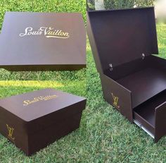 Giant Louis Vuitton Shoe Storage Box - Classic Shoe Drawer, Shoe Cabinet, Shoe Box Design, Giant Shoe Box, Sneaker Storage, Shoe Box Storage, Sneakers Box, Shoe Room, Carpentry Skills