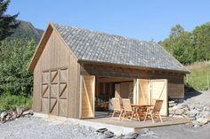 Boathouse in Haddal Prefab Cottages, Barn Garage, Garages, Restoration, Shed, Boat House, Outdoor Structures, House Design, Cabin Fever