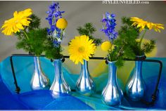 Blue Green Yellow Purple Wedding Ideas Inspired by Science = a nerd wedding!!