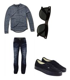 """school"" by pedro-villa on Polyvore featuring Hollister Co., Vans and Ray-Ban"