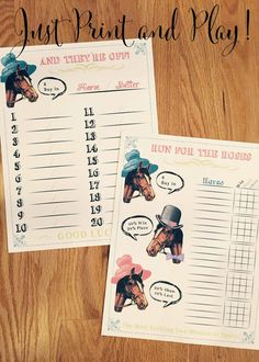 Kentucky Derby Party Printable Betting Sheets by CreationsbyDeven Horse Racing Party, Derby Games, Derby Recipe, Oaks Day, Run For The Roses, My Old Kentucky Home, Derby Day, Baby Shower, Bridal Shower