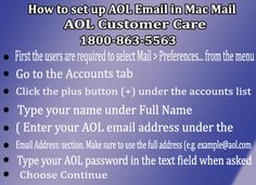 #How to #Set up #AOL #Email in #Mac #Mail Contact #AOLEmailCustomerCareNumber 1800-863-5563 #AOLSupportPhoneNumber #AOLEmailCustomerService #AOLEmailCustomerSupport #AOLEmailTechnicalSupport #AOLEmailTechSupportNumber Read More Here: https://goo.gl/KE5cEL