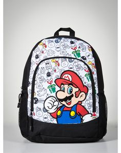 Nintendo  Mario  Bad Guys Print Backpack  29.99 Regalos De Mordaza b2c775827a487