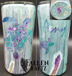 Love creating the peekaboo tumblers. so much fun designing the glitter and the top layer. Diy Tumblers, Custom Tumblers, Glitter Tumblers, Coffee Cup Crafts, Coffee Cups, Best Gifts For Him, Resin Crafts, Resin Art, Crafty Projects