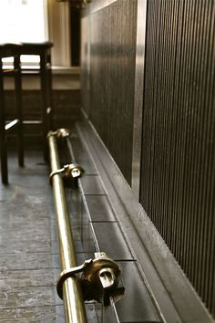 mixed metal bar footrail - Google Search