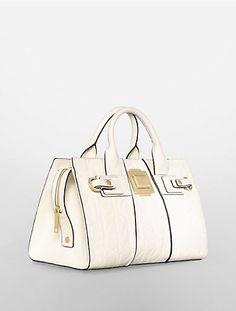 09d861df321f Calvin Klien -parker faux leather duffle satchel Calvin Klien