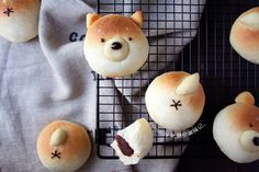 Red Bean Paste, Bread Rolls, Dry Yeast, Shiba Inu, Cute Food, Bread Baking, Tray Bakes, Cooking Recipes, Desserts
