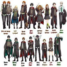 Après la frise de transformation made in Japan, voici quelques fanarts détaillant le design des personnages si Harry Potter devenait un anime. Certains sont allés encore plus loin en proposant carrément un trailer ! Voir le trailer sur…