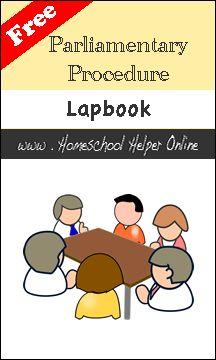 Free Parliamentary Procedure Lapbook - Homeschool Helper Online