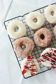 Maple Frosted ◊ Cinnamon Sugar ◊ Maple Bacon Baked Doughnuts