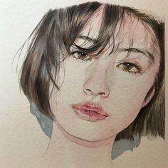 """애니포스봇 op Twitter: """"[작가소개reina yamada Watercolor"""