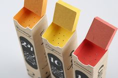 "Masha Barsukova | http://behance.net/MashaBarsukova ""The main idea for the spice packaging was to make a simple in use and rememberable image. It uses handwritten type to create home atmosphere. The more attention is pade to the number of the spice..."