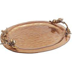 Francesca Glass Platter - Antique Copper