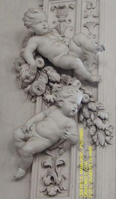 Oratorio di S. Lorenzo a Palermo, Italy Angel Sculpture, Sculpture Art, Cherub Tattoo, Children Sketch, Angel Statues, Angel Art, Wall Sculptures, Sculpting, Religion