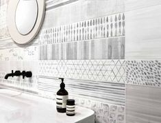 Maximize comfort in your guest bathroom with our extensive tile and stone selection. Visit our showrooms to find the perfect tile for your home remodel. Grey Bathroom Tiles, Grey Bathrooms, Stone Tiles, Guest Bath, Santorini, New England, Home Remodeling, Countertops, Ceramics