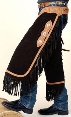 Tooled Leather Yoke Chinks | ChickSaddlery.com