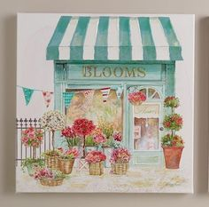 'Spring Flowers' by Kathryn White, Set of 2 Watercolor Illustration, Art And Illustration, Watercolor Paintings, Art Sketches, Art Drawings, Spring Drawing, 3d Art, Watercolor Architecture, Spring Flowers