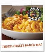 Get this quick and easy Three-Cheese Baked Mac recipe now! #recipe #cookingupgood