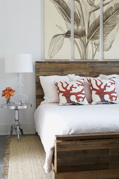 I really like the bed, as well as the artwork above. Would be gorgeous in the master bedroom!