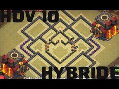 Base HDV 10 farm/hybride avec TOUR A BOMBES | Post màj octobre 2016 | Clash of Clans
