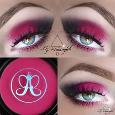 hot pink eyes with darkened tips #triiangleh