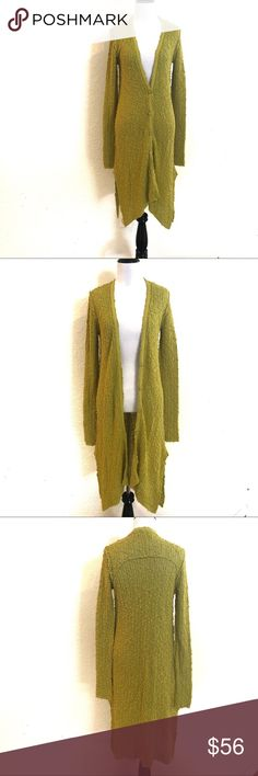 68853fcce (Free People) EUC Lime Green Long Cardigan Beautiful lime green Free People  long cardigan