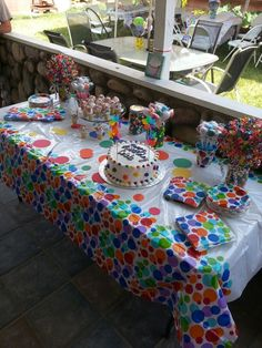 The dessert table for Caleb's let's have a ball birthday. Bouncy Ball Birthday, 2nd Birthday Party Themes, Ball Birthday Parties, Birthday Party Celebration, 1st Boy Birthday, Birthday Ideas, Happy Unbirthday, 1st Birthdays, Party Ideas