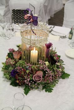 Flower Design Events but not the bird cage--ick bird cage