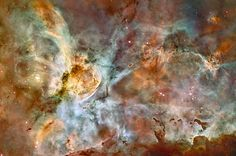 The Carina Nebula is a huge and exceedingly hot mass of stars located 7,500 light years from Earth