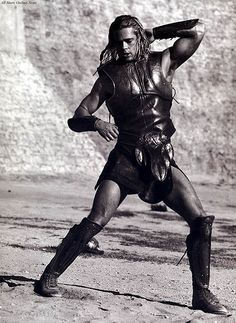 Brad Pitt as Achilles in the movie Troy...