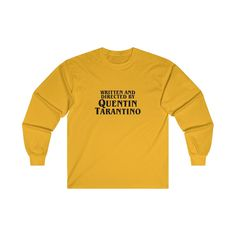 b6b3c996 Written and Directed by Quentin Tarantino Sweater – AESTHEDEX Long Sleeve  Tees, Long Sleeve T