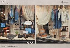 Kai D Utility — Kai D. Window Display Retrospective Visual Display, Wardrobe Rack, Kai, Windows, Furniture, Clothes, Home Decor, Outfits, Clothing