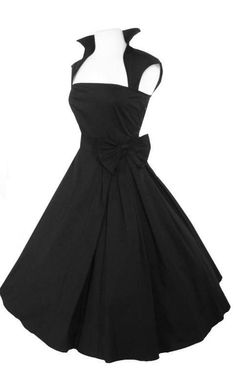 Black Tie Dress  VERY RETRO