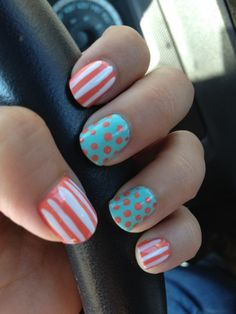 stripes with polka dot's