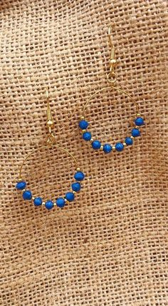 Michi's Boutique - $12.00 Blue paper bead dangle earrings from Haiti.