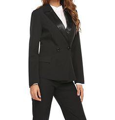 04074f53cda ROMWE Women s Striped Print Colorblock Blazer Short Romper With Belt Formal  Jumpsuit Green S